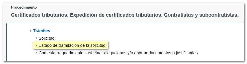 Solicitud De Un Certificado De Contratistas Y Subcontratistas