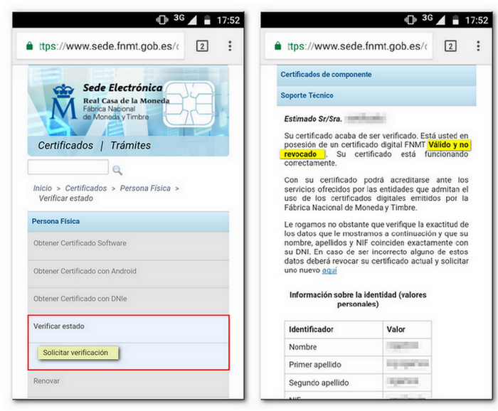 How to check certificates installed on Android devices - Tax Agency