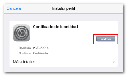How to import your electronic certificate on IOS devices