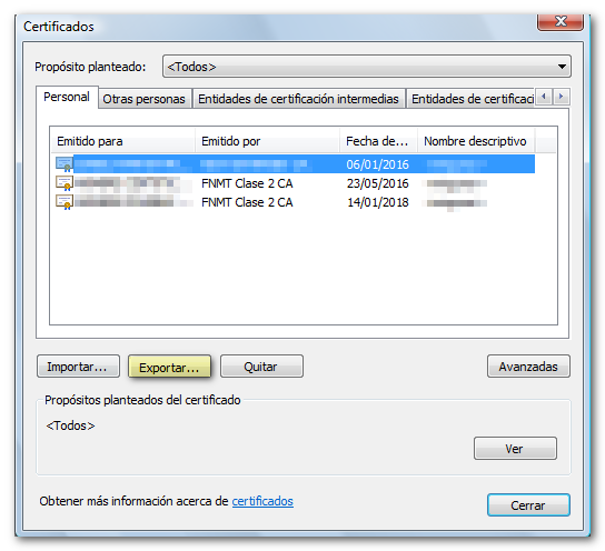 Copy of the electronic certificate in Google Chrome (Windows