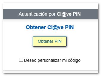 Obtención de Cl@ve PIN Agencia Tributaria