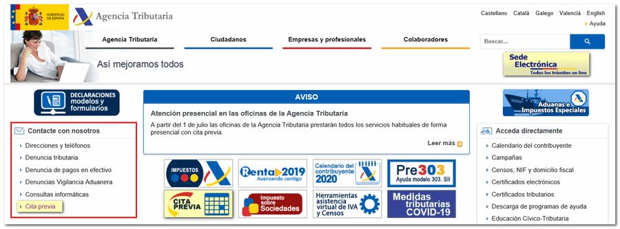 Telefono Cita Previa Agencia Tributaria Toledo