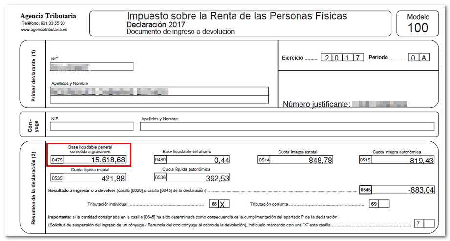 Casilla 475 documento ingreso