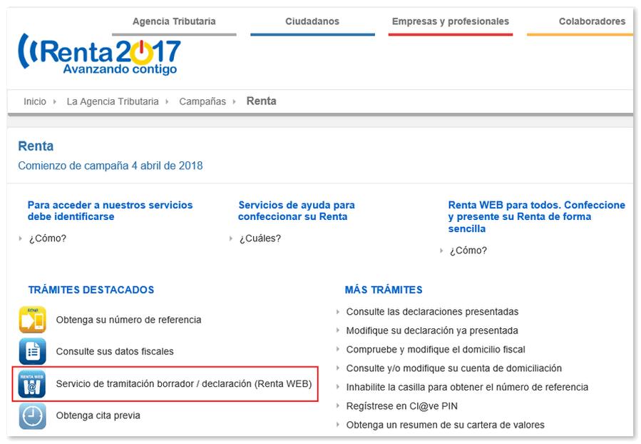 Cómo modificar borrador o declaración mediante Renta WEB - Agencia ...