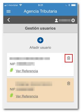 eliminar un usuario de la app